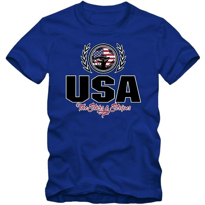 Shirt Happenz Fútbol Estados Unidos V2 Camiseta | Hombre | Fútbol | Yanks | Jersey | Equipo Nacional: Amazon.es: Ropa y accesorios