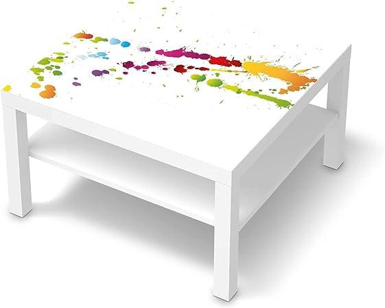 creatisto Wandtattoo Möbel passend für IKEA Lack Tisch 78x78 cm I Möbeldeko Möbel Sticker Aufkleber Folie I Innendekoration für Schlafzimmer und