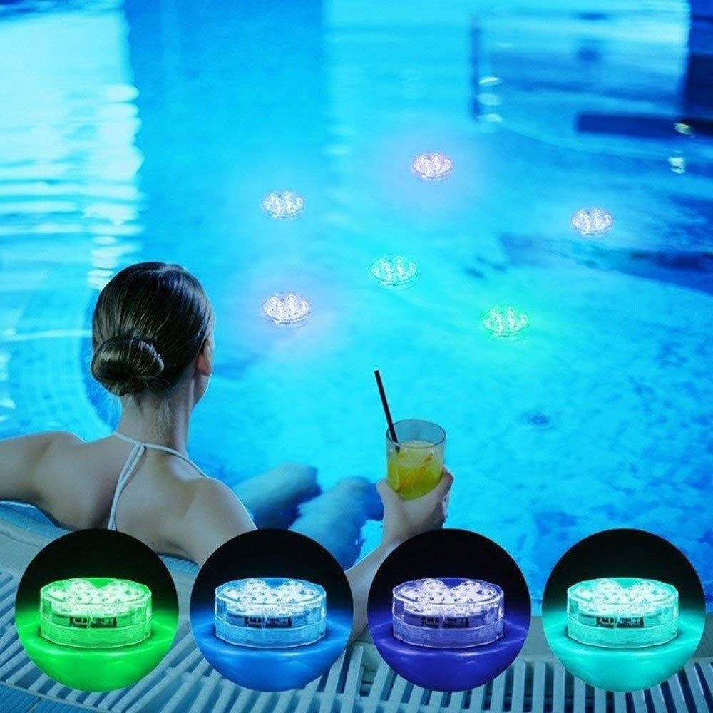 Swimming Pool Light Ip68 Piscine With Remote Control Rgb Submersible Light Durable Led Bulb Portable Underwater Lights & Lighting