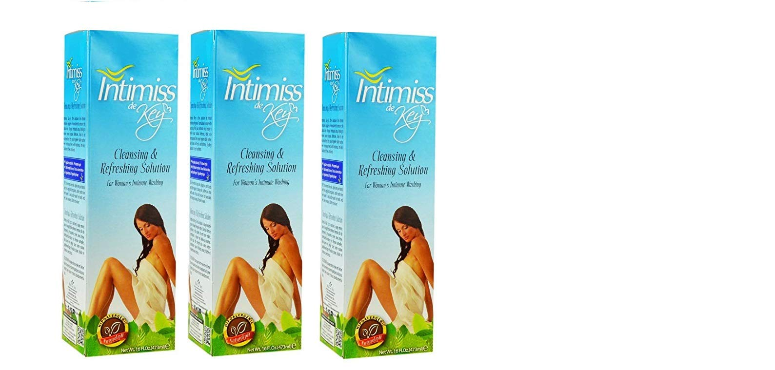 Miss KEY Intimiss De Key Cleaning and Refreshing Solution 16 oz (3PCS) by Miss Key