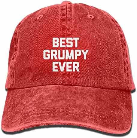 Best Grumpy Ever Casual Fashion Sports Trend Adjustable Washed Cap Fashion Cowboy Baseball Hat Black