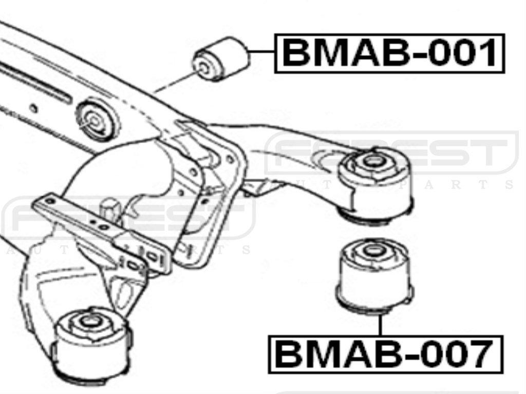 For Bmw 33171096207 Arm Bushing for Rear Control Arm Febest