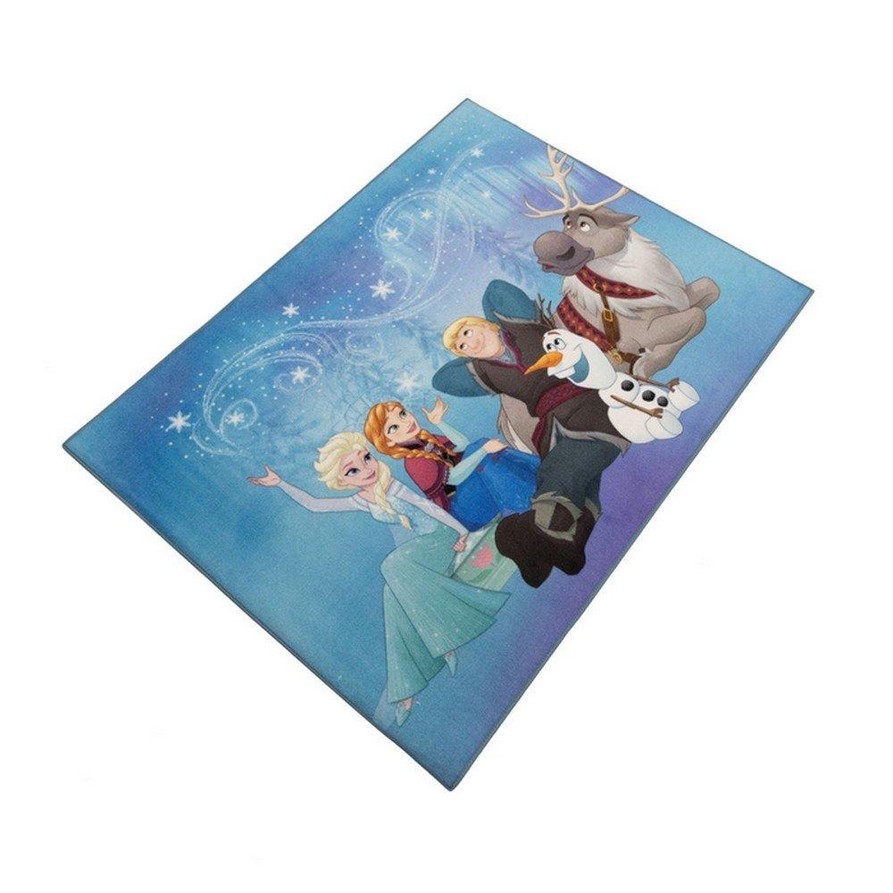 GUIZMAX Tapis Enfant La Reine des Neiges 125 x 95 cm Disney 02 Haute Qualite
