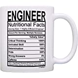 Engineer Gifts Engineer Nutritional Facts 标签科学礼品咖啡杯茶杯 白色 A-P-S-M11-0550-01