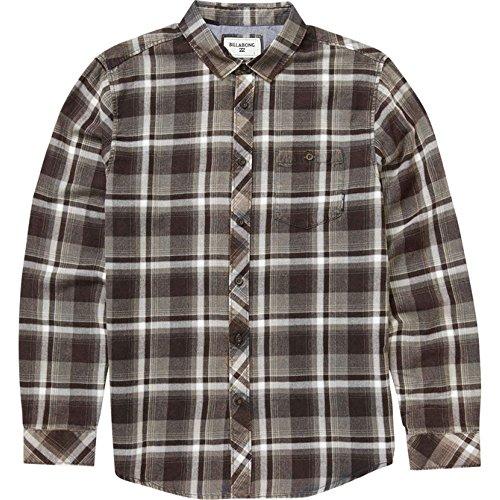 (Billabong Men's Vantage Woven Short Sleeve Shirt, Asphalt Small)