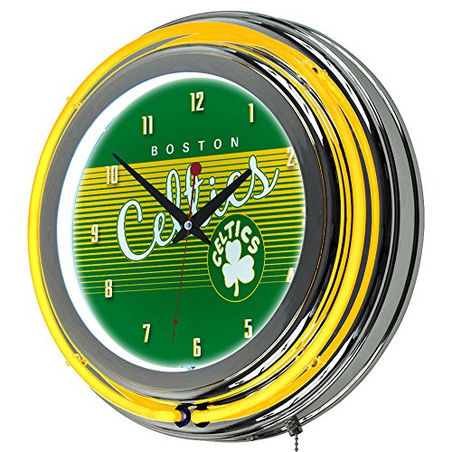 NBA Boston Celtics Chrome Neon Clock, One Size, ()