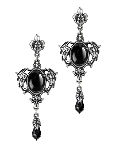 Alchemy Gothic Baroque Style Pink Angel Wing Drop Earrings Seraph of Light E351 LfQopmp2