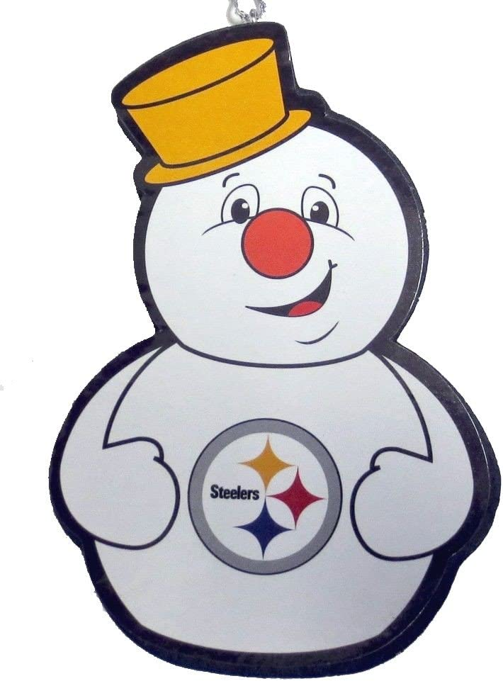 Forever Collectibles Pittsburgh Steelers Snowman Team Ornament