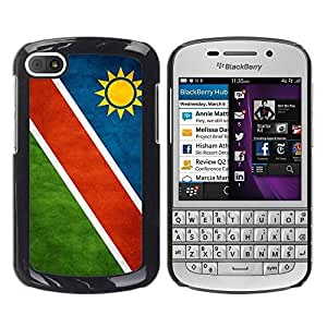 Paccase / SLIM PC / Aliminium Casa Carcasa Funda Case Cover - National Flag Nation Country Namibia - BlackBerry Q10