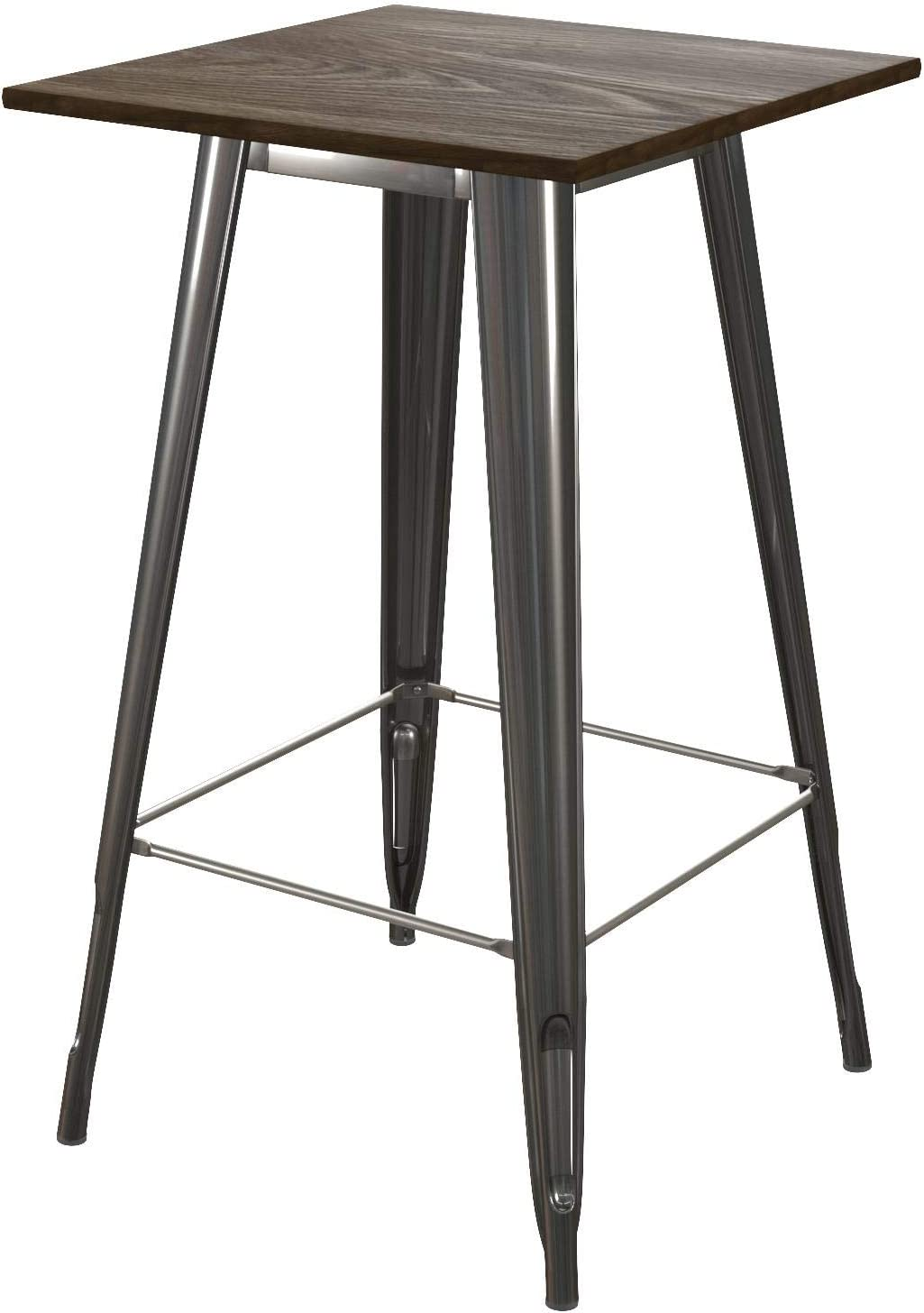 DHP Elie Bar Table, Antique Gun Metal