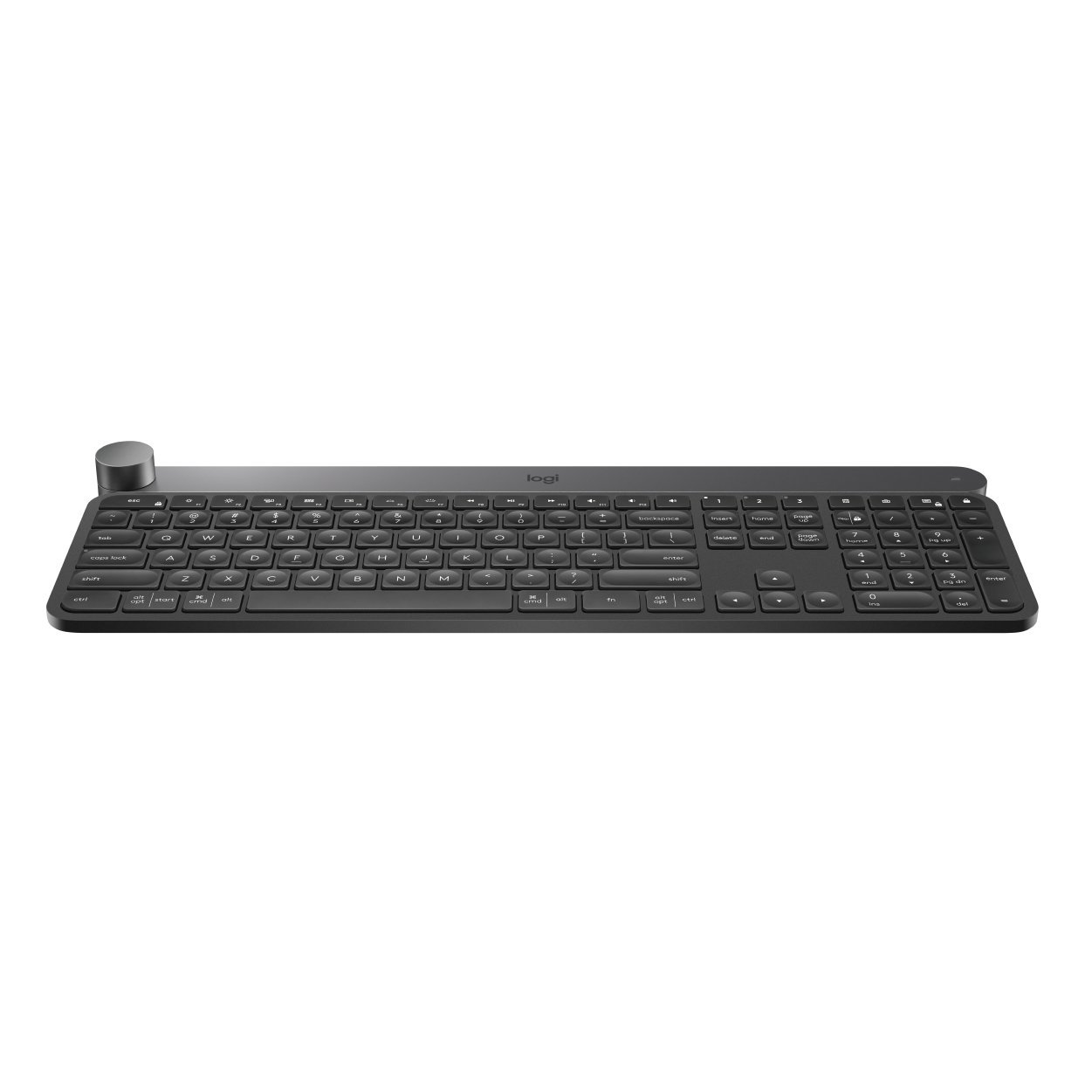 Logitech Craft Advanced Wireless Keyboard with Creative Input Dial and Backlit Keys, Dark grey and aluminum by Logitech (Image #1)