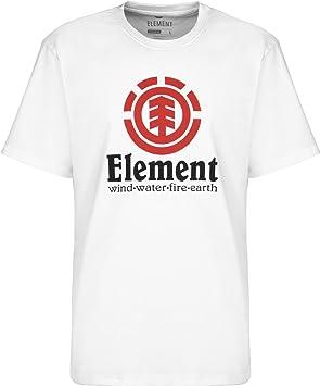 Element Vertical SS Camisetas, Hombre, Blanco (Optic White), XS