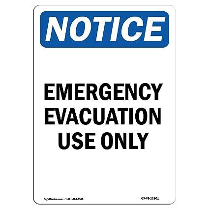 Señal de advertencia de Osha - Uso de evacuación de ...