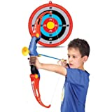 Kiditos Archer Bow and Arrow, 3 Arrows, Strong String Thread with Target Board