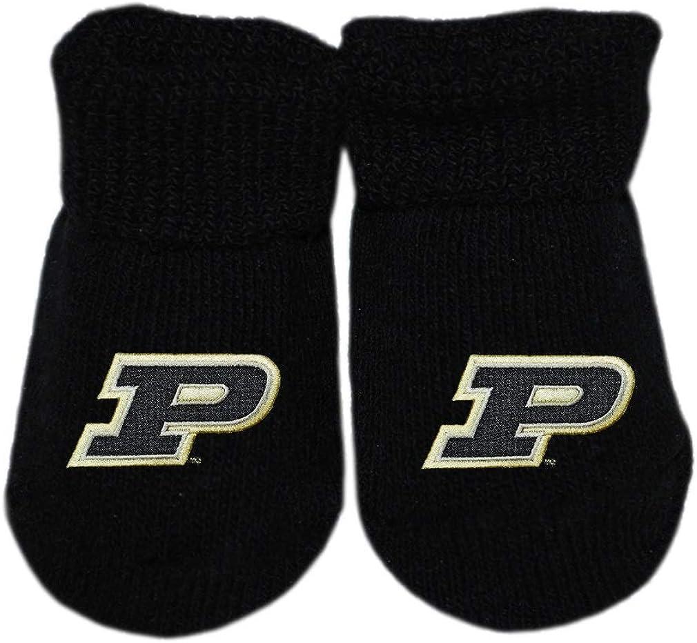 Creative Knitwear Purdue University Boilermakers Sports Shoe Footed Baby Romper