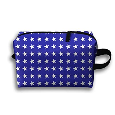 50%OFF Travel Gadget Organizer Portable Toiletry Bag Cosmetic Pouch Medicines Storage Holder Star Blue High-capacity
