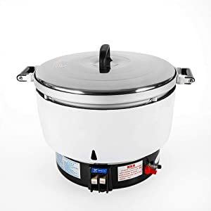 LGR Natural Gas Rice Cooker, 10L 60 Cup Commercial Restaurant Large Capacity Natural Gas Rice Cooker, Quickly Cook Kitchen Cooker for Big Parties, Chinese Restaurant
