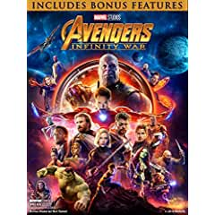 Avengers: Infinity War on Digital July 31 and on Blu-ray Aug. 14 with other Avengers titles on 4K