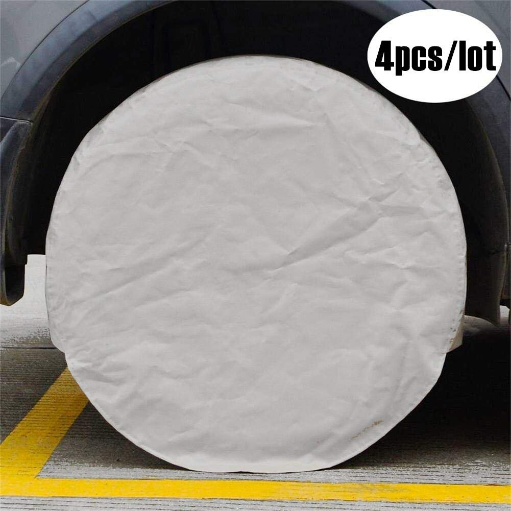 Universal Tarp Cover Tire Sunscreen Wheel Guard for Camping Car Truck SUV Trailer Caravan for Tire Diameter 27 to 29 Inch Cover Tire Wheel