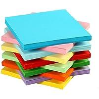 YUEMING 100 Vellen Origamipapier,Dubbelzijdig Vouwpapier,Gekleurd Kerst Karton, 7 x 7 cm Levendige Kleuren Papier voor…