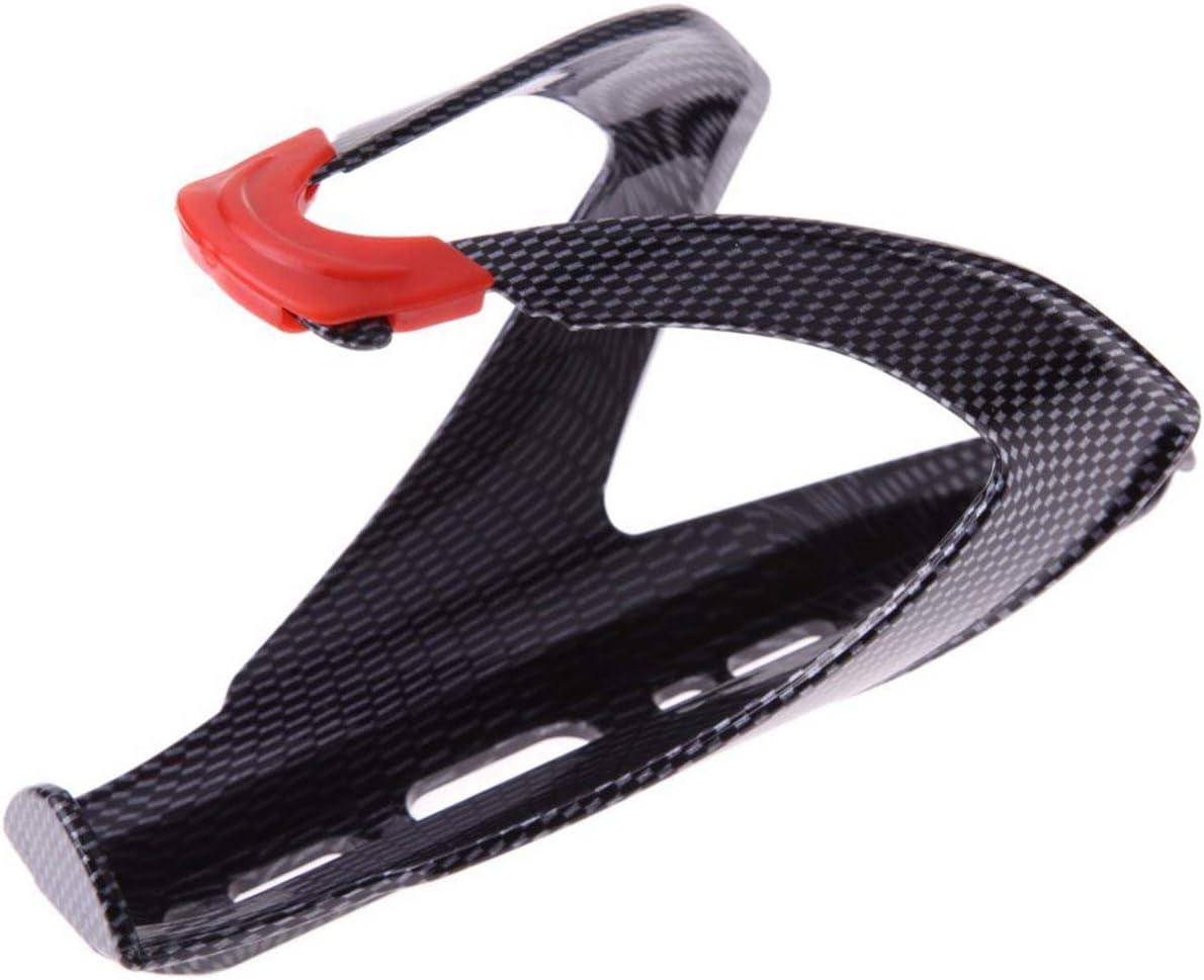 ITjasnyfall Portaborraccia in plastica Ultraleggera per Bicicletta Portabici MTB Bici da Strada Bottiglie per Bevande Supporto per Rack Accessori per Ciclismo Nero