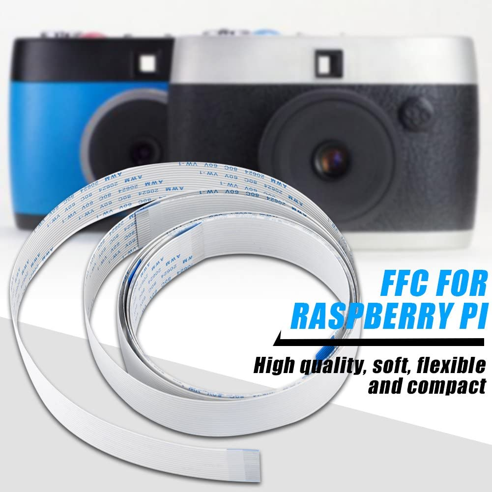 High Flexibility and Ultra-Thin 15 Pin,30cm//50cm//100cm Perfectly Fit for Raspberry Pi Bewinner 3pcs FFC Ribbon Flexible Flat Cable for Raspberry Pi Module Camera