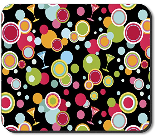 Art Plates brand Mouse Pad - Martini Polka Dots (Dot Martini)