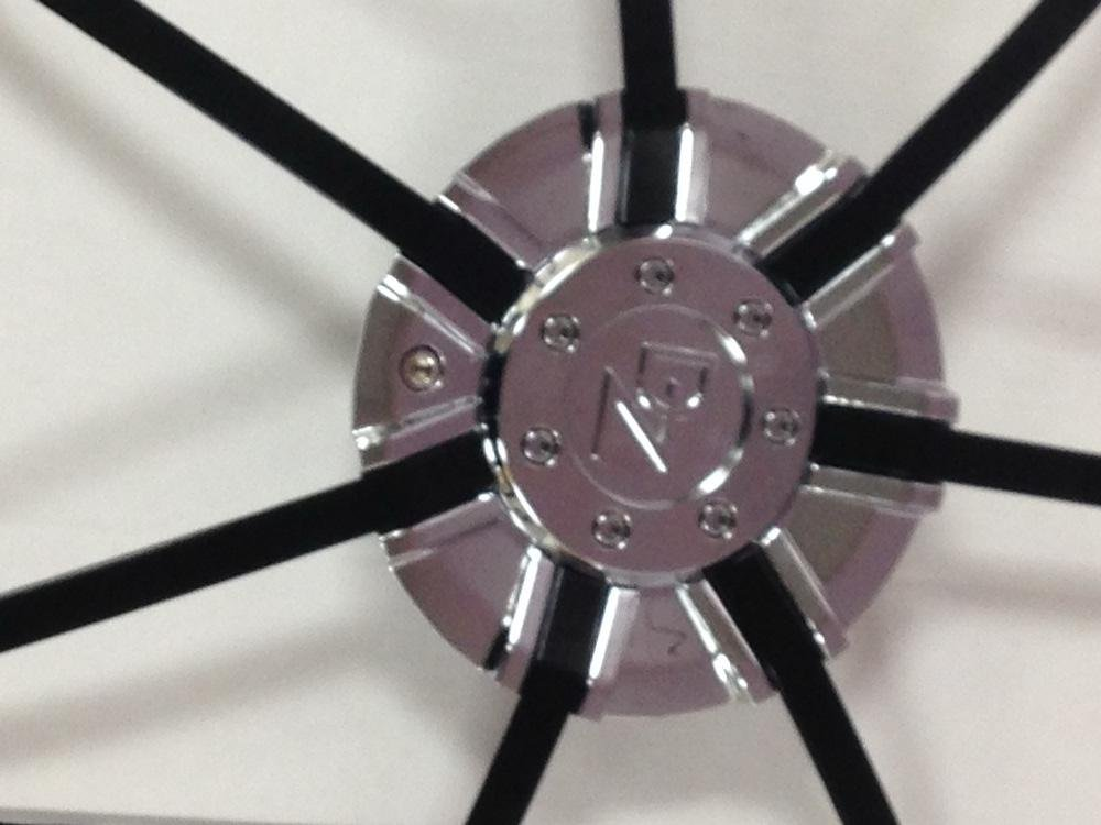 DZ 104 CAP CHROME WITH BLACK INSERTS FOR 22 INCH WHEEL by Z.D (Image #1)