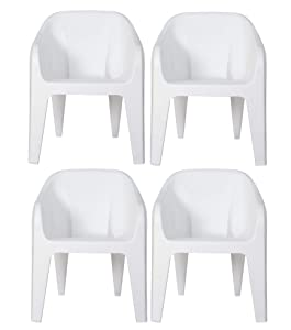 Supreme Futura Plastic Chair (Milky White)(Set of 4)