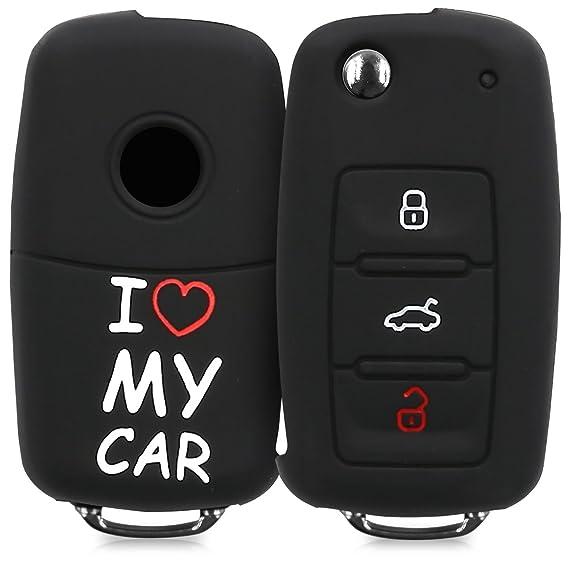 Amazon Com Kwmobile Vw Skoda Seat Car Key Cover Silicone