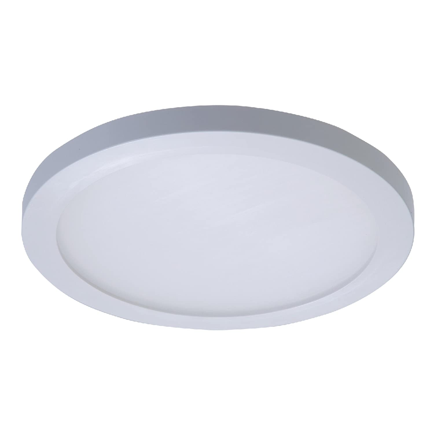 Halo smd6r6950wh smd 5000k integrated led surface mount recessed round trim 5 in 6 in white