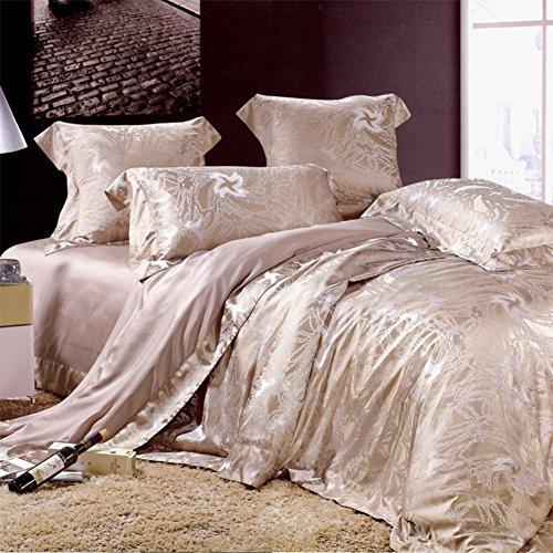 cheap american european style silk 6 pieces bedding set bedding