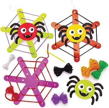 Baker Ross Kits Telas de araña Decorativas (Pack de 5) Ideales para Manualidades Infantiles de Halloween: Amazon.es ...