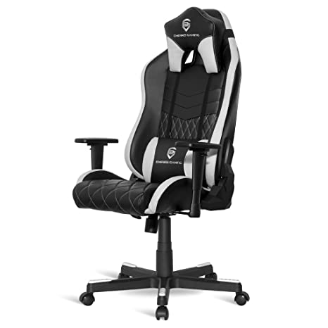 Empire Gaming Chaise Gamer Mamba Blanc Et Noir Inclinable