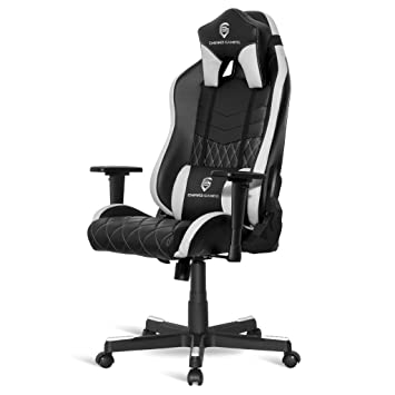 Empire Gaming - Sillón Gamer Mamba Blanco - Asiento de cuero ...