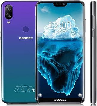 DOOGEE N10 Smartphone 4G LTE,Cámara 16MP+16MP+13MP Octa core 3GB+32GB (Tarjeta TF de 128 GB) 15.1cm 5.84