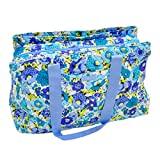 Vera Bradley Triple Compartment Travel Bag (Blueberry Blooms)