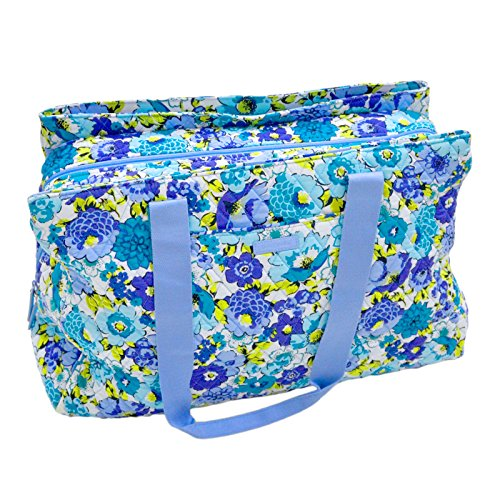 Vera Bradley Triple Compartment Travel Bag (Blueberry Blooms) by Vera Bradley