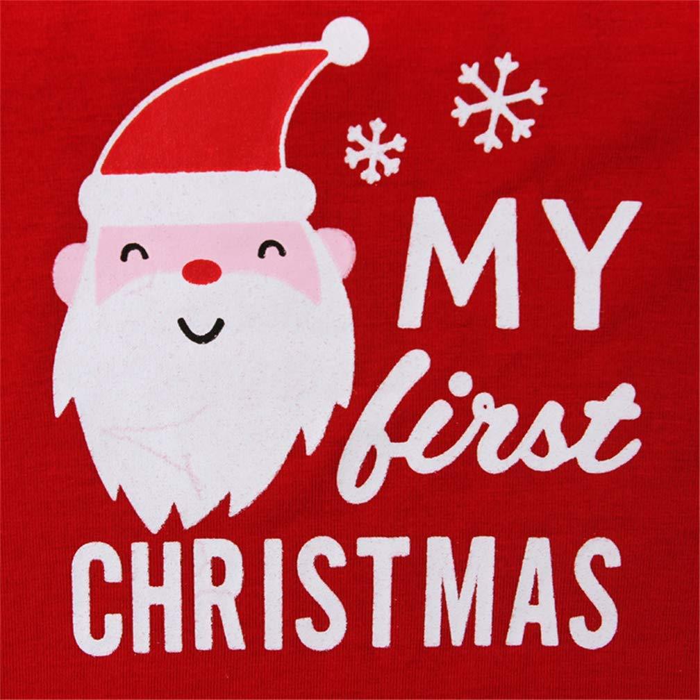 Ragazzo della neonata 2pcs Il Mio Primo Set di Pigiama del Bambino di Natale ShangSRS Vestiti per Il Bambino