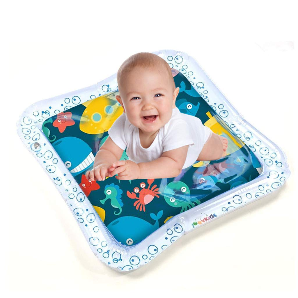 CapsA Inflatable Water Play Mat Baby Fun Indoor Outdoor Pad for Babies Infants Great Tummy Time Activity Promotes Visual Stimulation Movement Motor Skills Easy to Inflate Deflate (White)