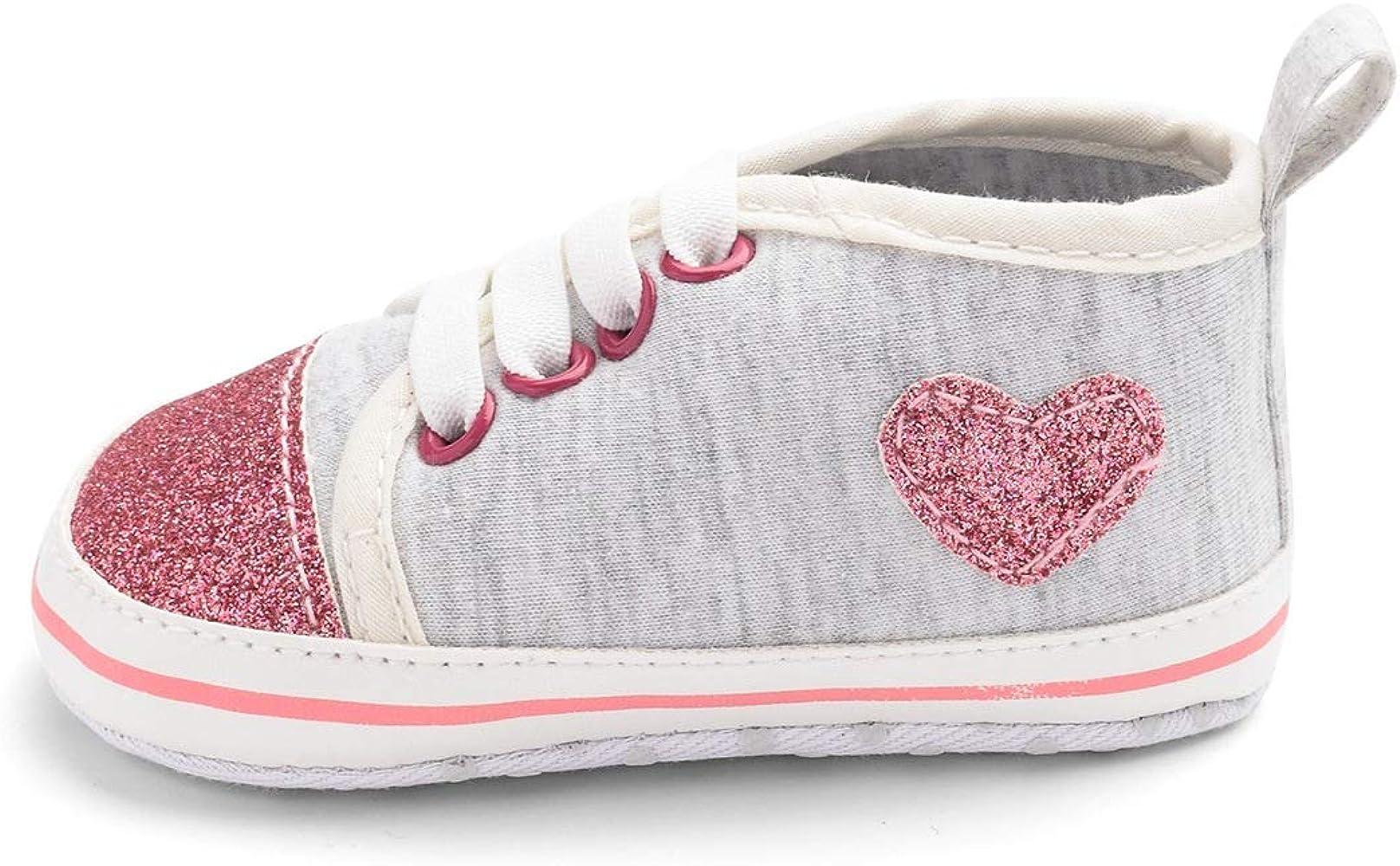 Zapatos de bebé brillante amor antideslizante corbata transpirable ...