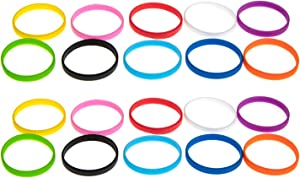 Grifiti Band Joes 2 x .25 Inch Silicone Rubber Bands Rings Wallets Bottle Food Card Wrist Cooking Durable Boxes Wraps 20 Pack Assorted Colors