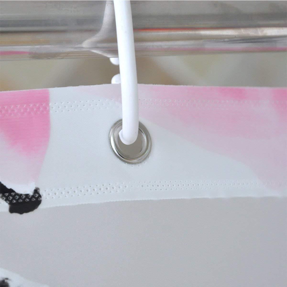Der European Creative Garden Matte Opaque Thickening EVA Bathroom Free Punching Shower Curtain Waterproof and Mildew Bathroom Accessories (Size : 240cm200cm) by Der (Image #2)