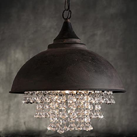 Vintage – Lámpara de techo, frideko Retro Industria – Lámpara colgante (Cristal Araña para salón comedor Bar Pub cafeteria, rojizo, E27 60.00 wattsW ...