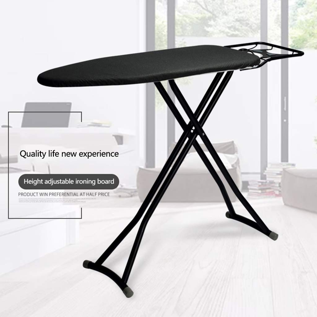 Color : Black, Size : 93x33x cm Large Ironing Board Home Folding Ironing Table Iron Board Highly Adjustable Ironing Rack Home Essential 73-85