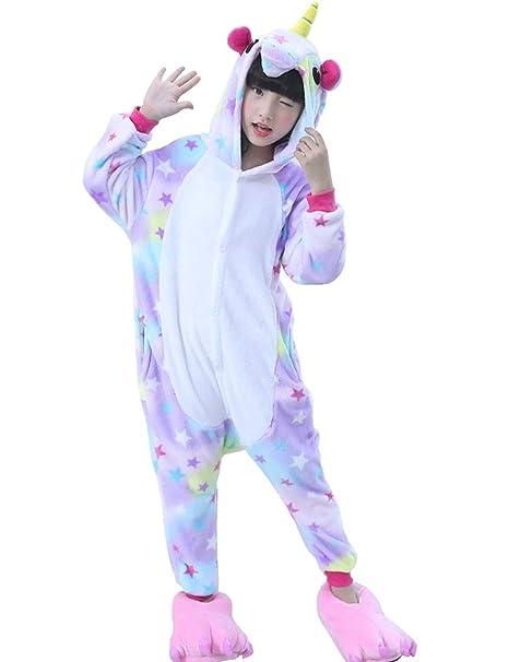 Amazon.com  Kids Animal Unicorn Onesie Pajamas Girls Boys Cosplay Costume  Halloween Party  Clothing 641449a0c