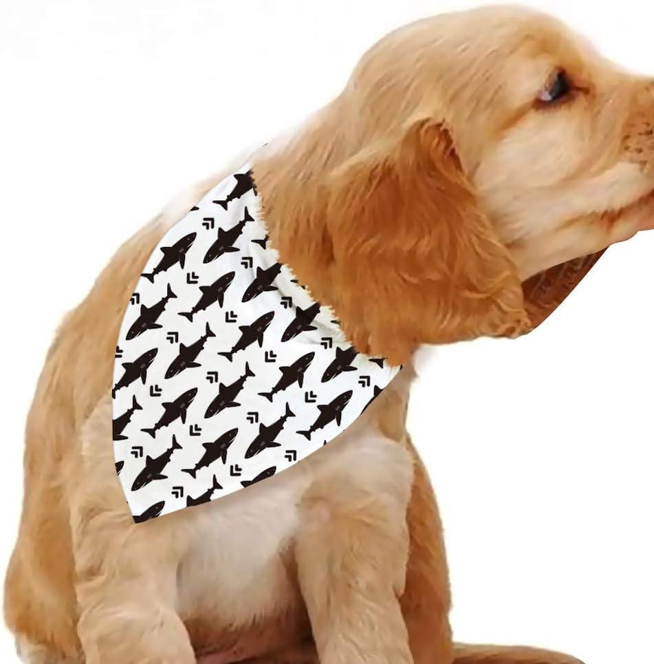 Blue Leaves Shark Dog Bandana,Shark Beach Accessories,Pet Accessories,Cat Bandana,Scarf for Dogs Cats