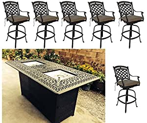 Amazon.com : Propane fire pit outdoor bar height dining 7