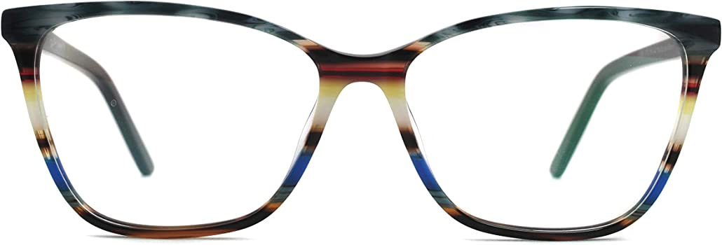 Oversize Multicolor Eyeglasses Non-prescription Optical Frame for Women /& Girls