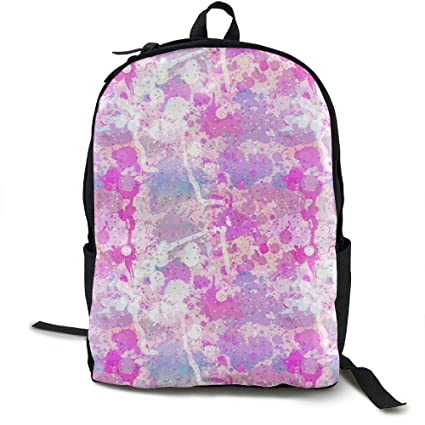 44a1d7119c Amazon.com  Malsjk8 Color Pigment - Purple School Backpack for Girls ...